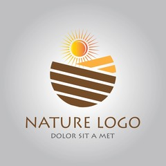 farming nature logo