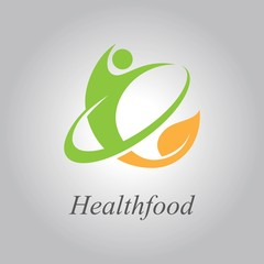 organic health food logo vector