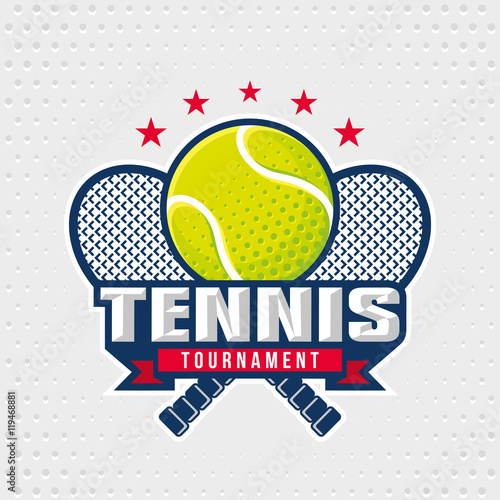 Tennis Logo Design Template Emblem Tournament Editable For Your