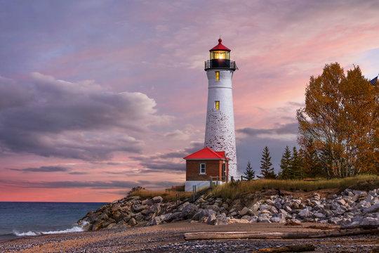 Sunset at the Crisp Point Lighthouse