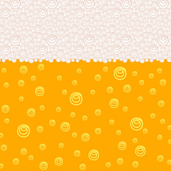 Background pattern with stylized image of beer with bubbles and foam. Vector illustration eps 10