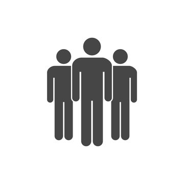 Group of people symbol, Clients sign icon