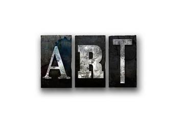 Art Concept Isolated Letterpress Type