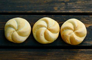 Kaiser roll or a Vienna roll originally from Austria.