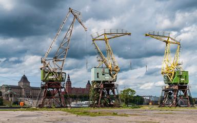Historische Kräne in Stettin; Polen