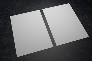 Two paper sheets