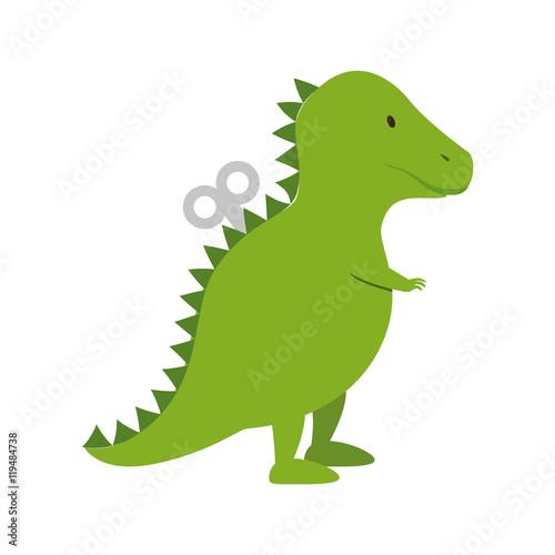 dinosaur toy kid game child entertainment object vector illustration