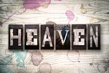 Heaven Concept Metal Letterpress Type