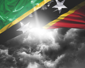 Saint Kitts and Nevis flag on a bad day