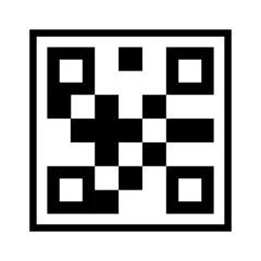 qr quick response code black squares barcode technology vector illustration