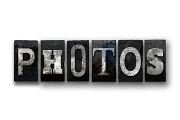 Photos Concept Isolated Letterpress Type