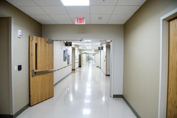 White hospital corridor