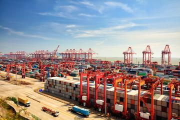 Shanghai Yangshan deepwater port Fototapete