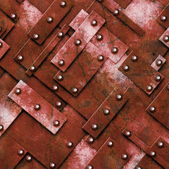 rusty fix wall. grunge metal background.