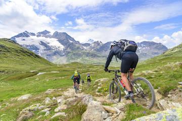 Downhill vor herrlicher Hochgebirgskulisse