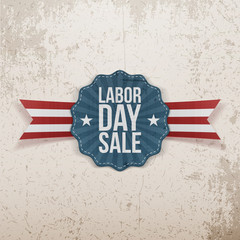 Label Template with Labor Day Sale Text