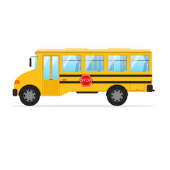 Yellow School Bus. Vector