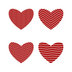 Heart. Set of design elements for greeting card, medical icons.