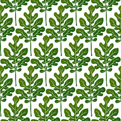 Green leaves seamless pattern vector background