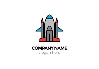 amazing space shuttle vector logo