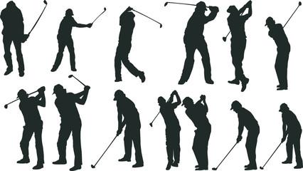 男子ゴルフのシルエット