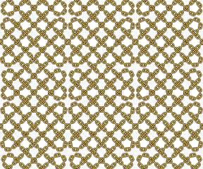 Vector seamless pattern of outlined chains