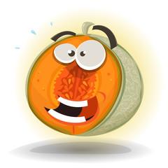 Cartoon Funny Melon Character