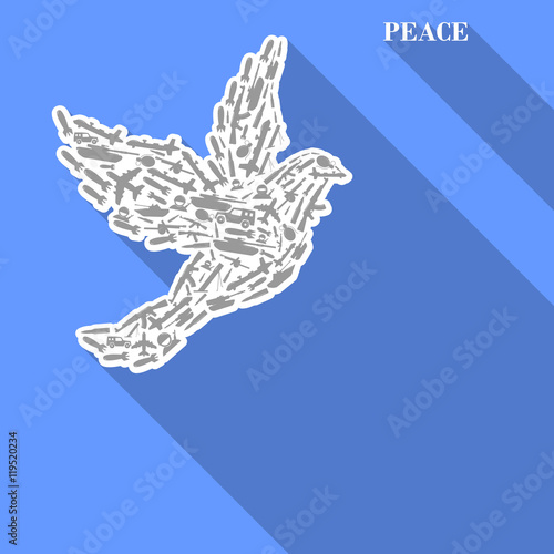 The Poster For The Day Of Peace No War Dove Symbol Of Peace