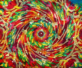 Hand drawn background with decorative elements on grunge background