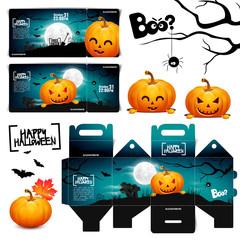 Halloween pumpkin head jack lantern ticket