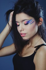 Beautiful girl portrait with creative make-up