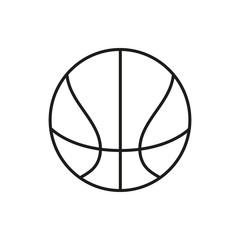 basketball ball outline in white background.