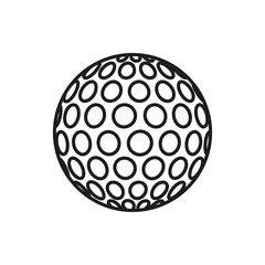 Golf Ball icon on white background