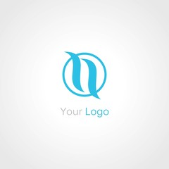 circle letter N logo
