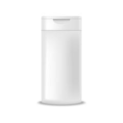 Shampoo bottle. Mock up, cosmetic package