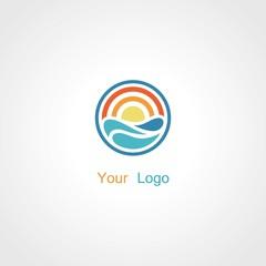 round sun water logo