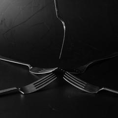 Aluminium Prints Grocery 5 vorken compositie