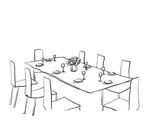 Hand Drawn wares. Dinner.
