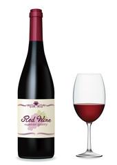 赤ワインとワイングラス