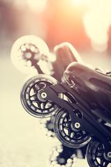 Wheels of roller skates