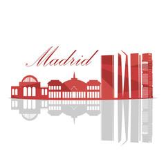 Isolated Madrid Skyline