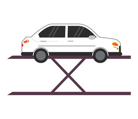 Car repair automobile transportation vehicle technology icon. Flat and isolated design. Vector illustration
