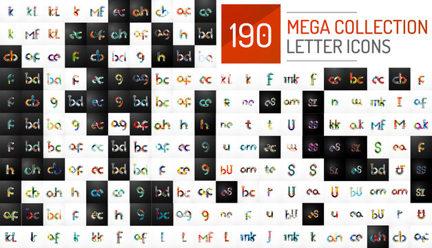 Mega collection of vector initial letter logo icons