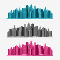 Vector city icons set