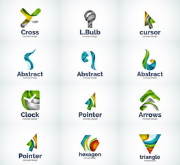 Set of abstract vector logo icons