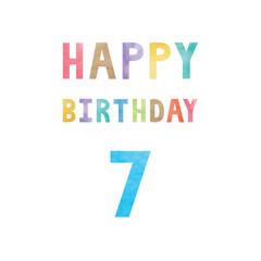 Happy 7th birthday anniversary card
