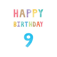 Happy 9th birthday anniversary card