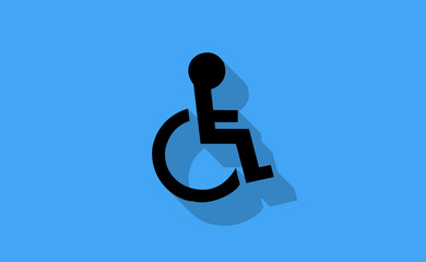 Vector disable handicap symbol on flat background