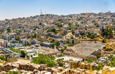 View on Roman Theater in Amman