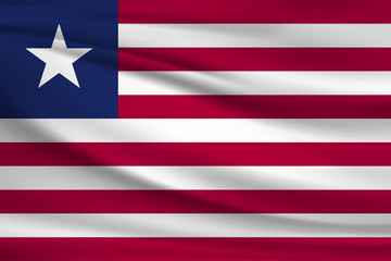 The national flag of Liberia